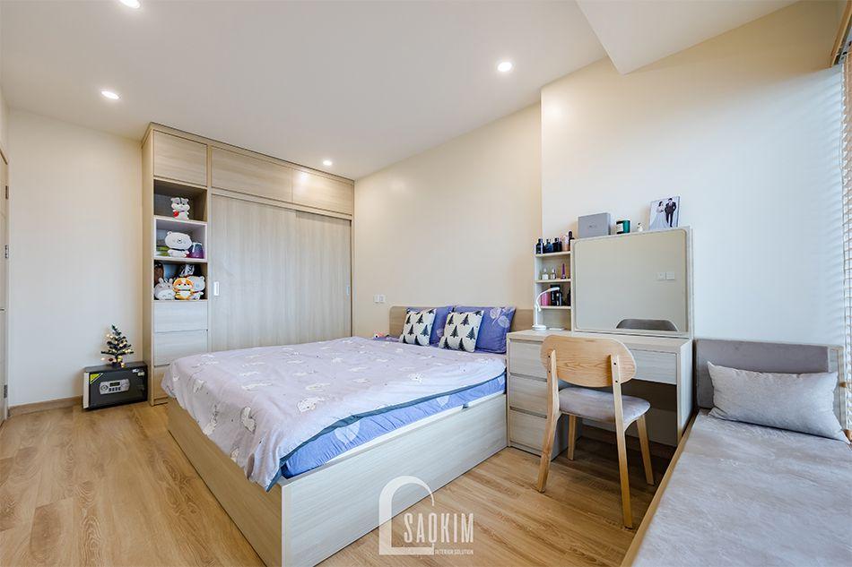 Hoàn thiện nội thất phòng ngủ Master nhà chung cư đẹp 80m2 PCC1 Thanh Xuân