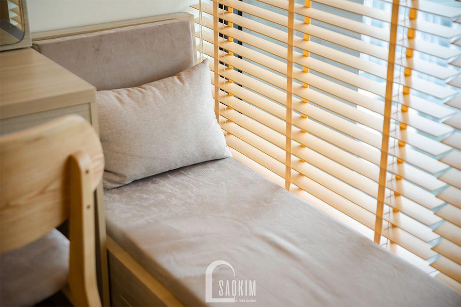 Góc thư giãn tuyệt vời dành cho gia chủ trong mẫu thiết kế nhà chung cư đẹp 80m2