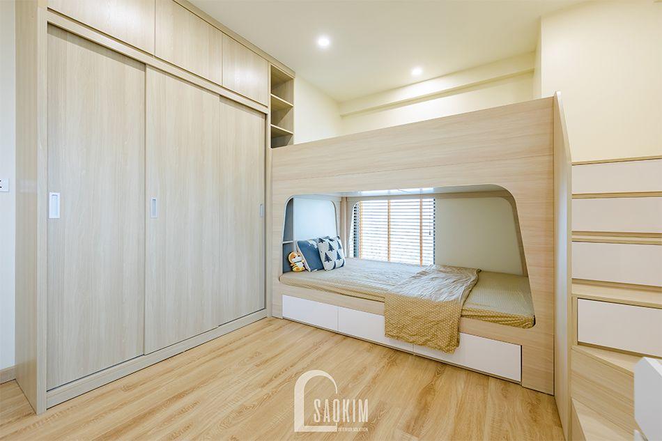 Không gian phòng ngủ cho bé rộng thoáng, bình yên