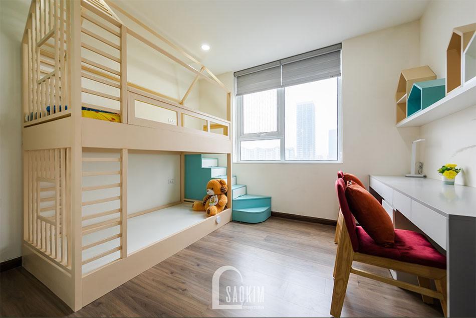 Không gian phòng ngủ cho bé tươi mới, tràn đầy sức sống