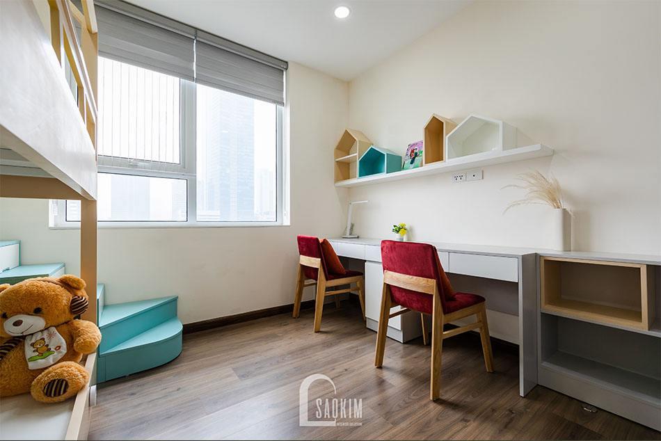 Phòng ngủ cho bé lựa chọn gam màu sáng nhẹ nhàng, tinh tế