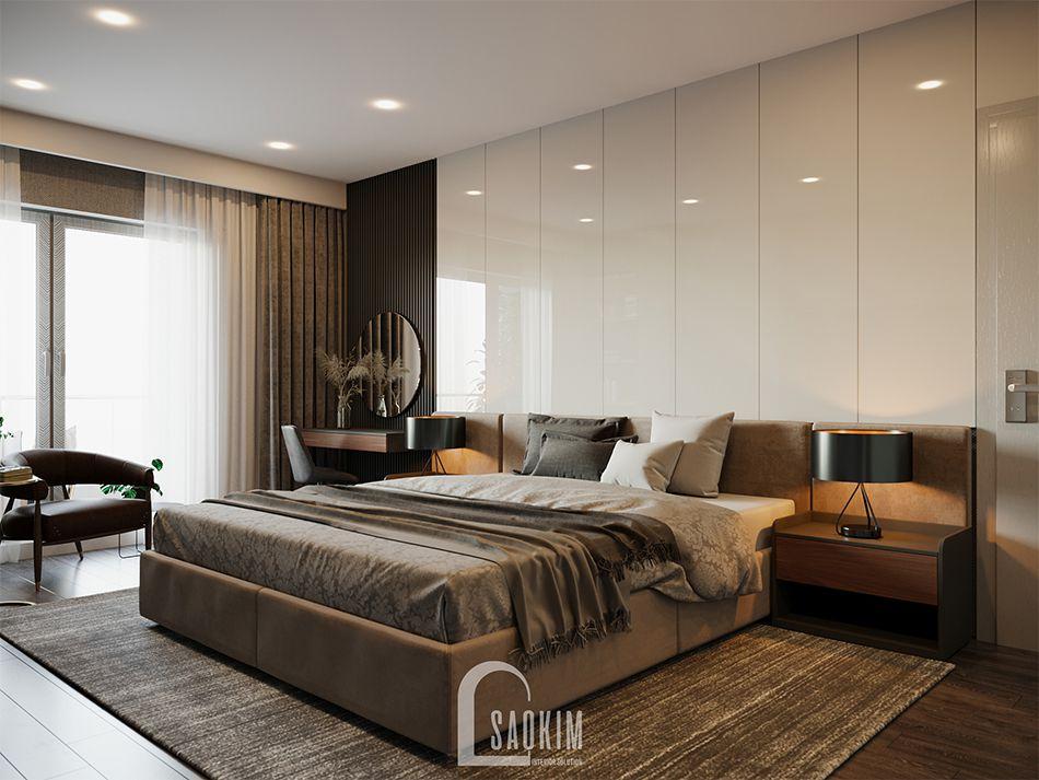 Thiết kế phòng ngủ 1 căn hộ HPC Landmark 105 Tố Hữu