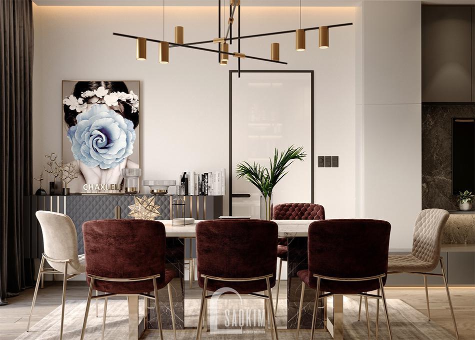 Mẫu hình ảnh thiết kế căn hộ 62m2 Tòa tháp Thiên Niên Kỷ