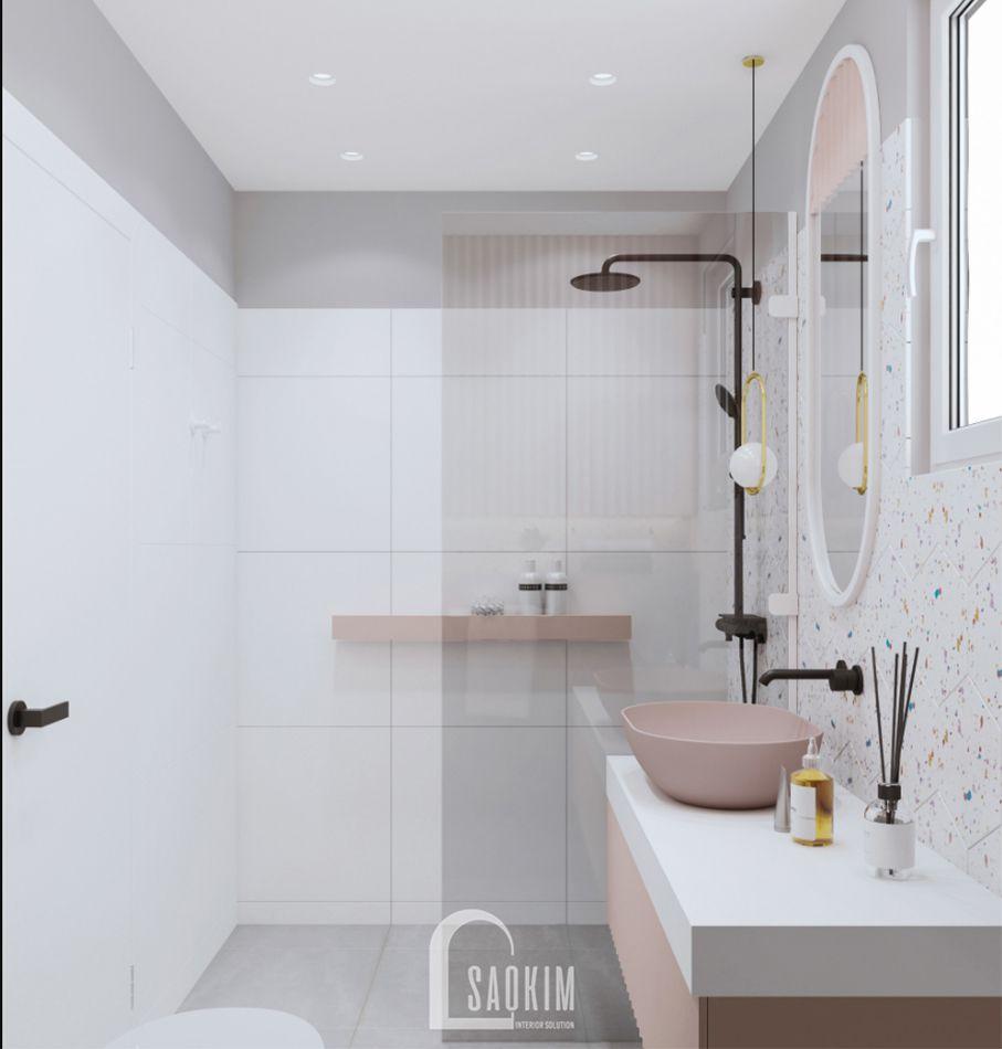 Không gian phòng tắm sạch sẽ, thoải mái