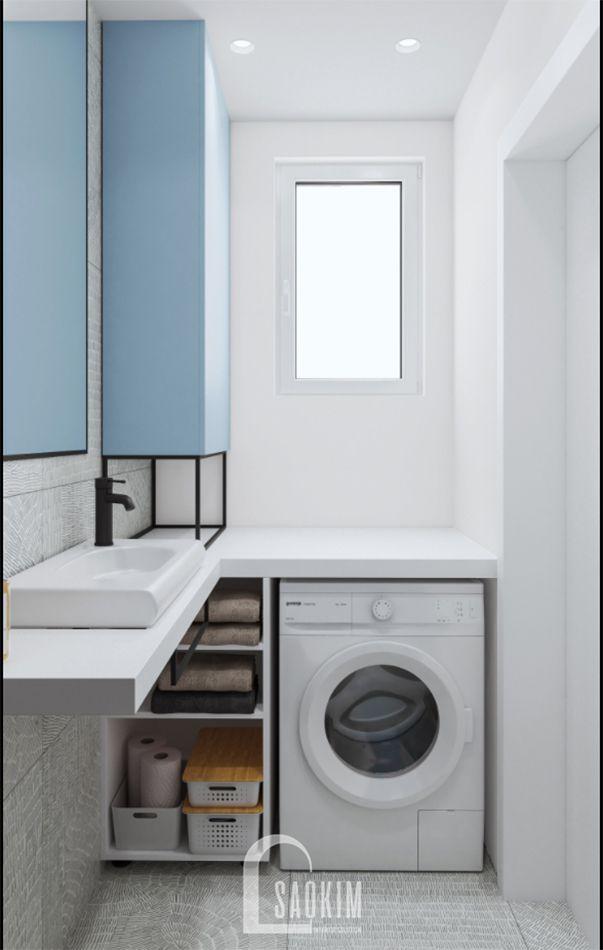 Không gian phòng tắm 2 mẫu thiết kế căn hộ 71m2 Tòa tháp Thiên Niên Kỷ