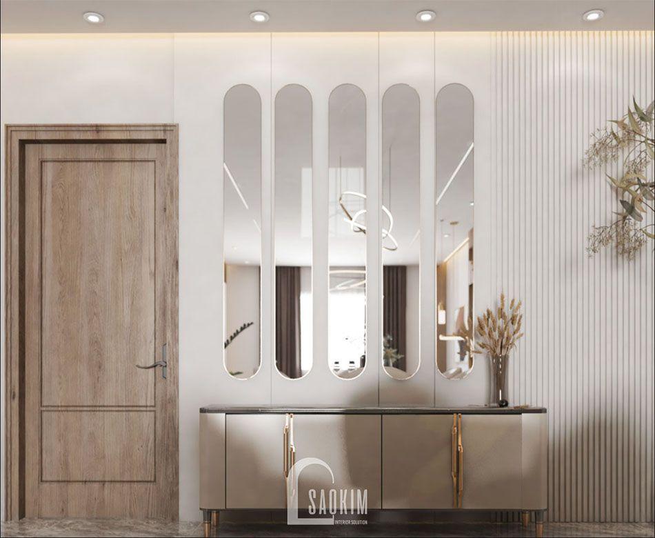 Mẫu thiết kế căn hộ 84m2 2 phòng ngủ chung cư The Zei