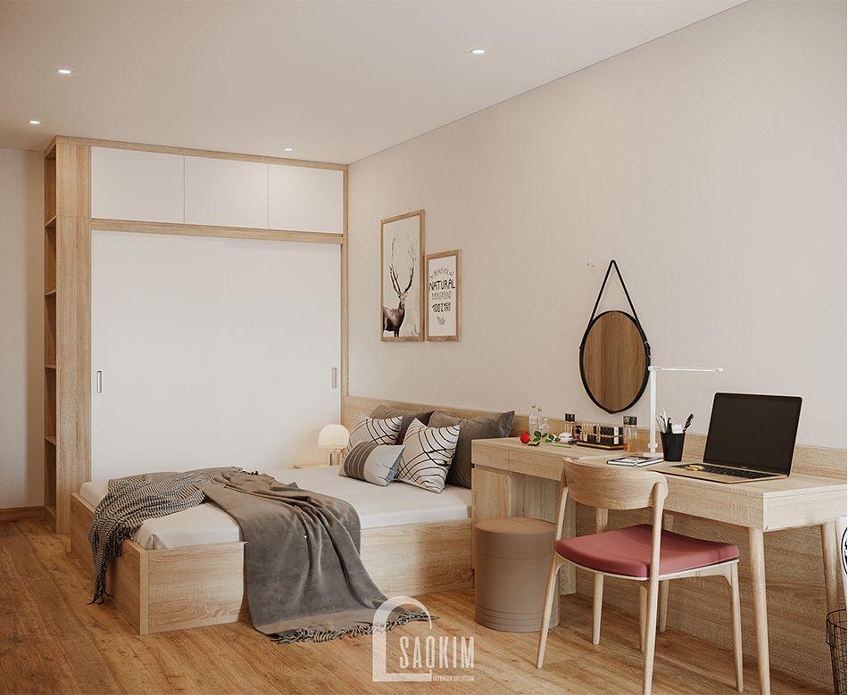 Không gian phòng ngủ Master căn hộ 84m2 Grand Sài Đồng
