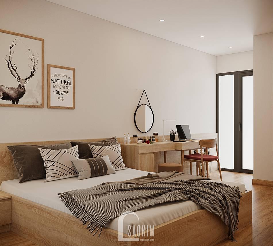 Mẫu thiết kế thi công phòng ngủ Master căn hộ 84m2 chung cư Grand Sài Đồng