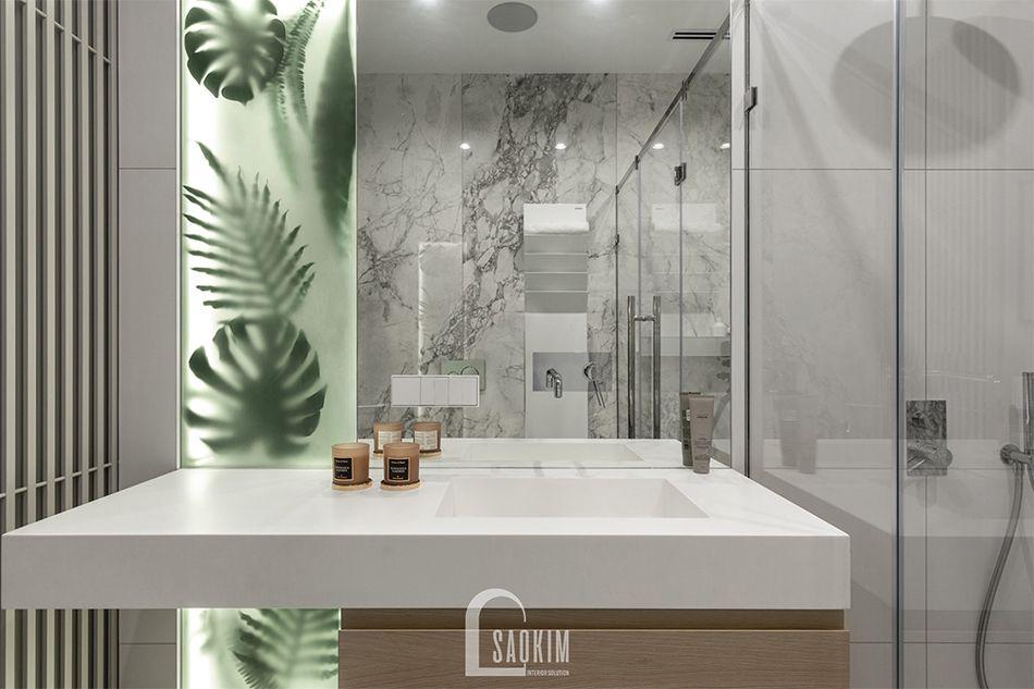 Không gian phòng tắm 1 trong mẫu thiết kế căn hộ 3 phòng ngủ chung cư The K Park