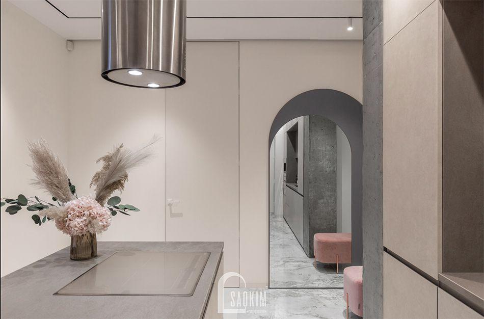 Từng chi tiết được chăm chút tỉ mỉ, kỹ lưỡng trong không gian phòng bếp