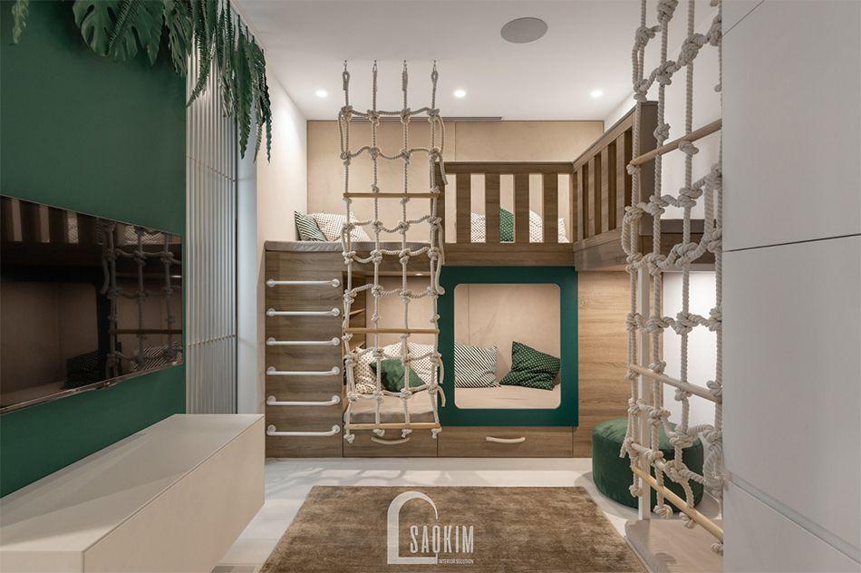 Thiết kế phòng ngủ cho bé căn hộ 84m2 chung cư The K Park