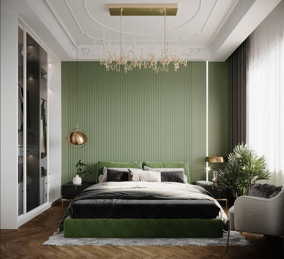 Không gian phòng ngủ trong thiết kế nội thất chung cư mini 40m2 Trường Chinh - Giải Phóng