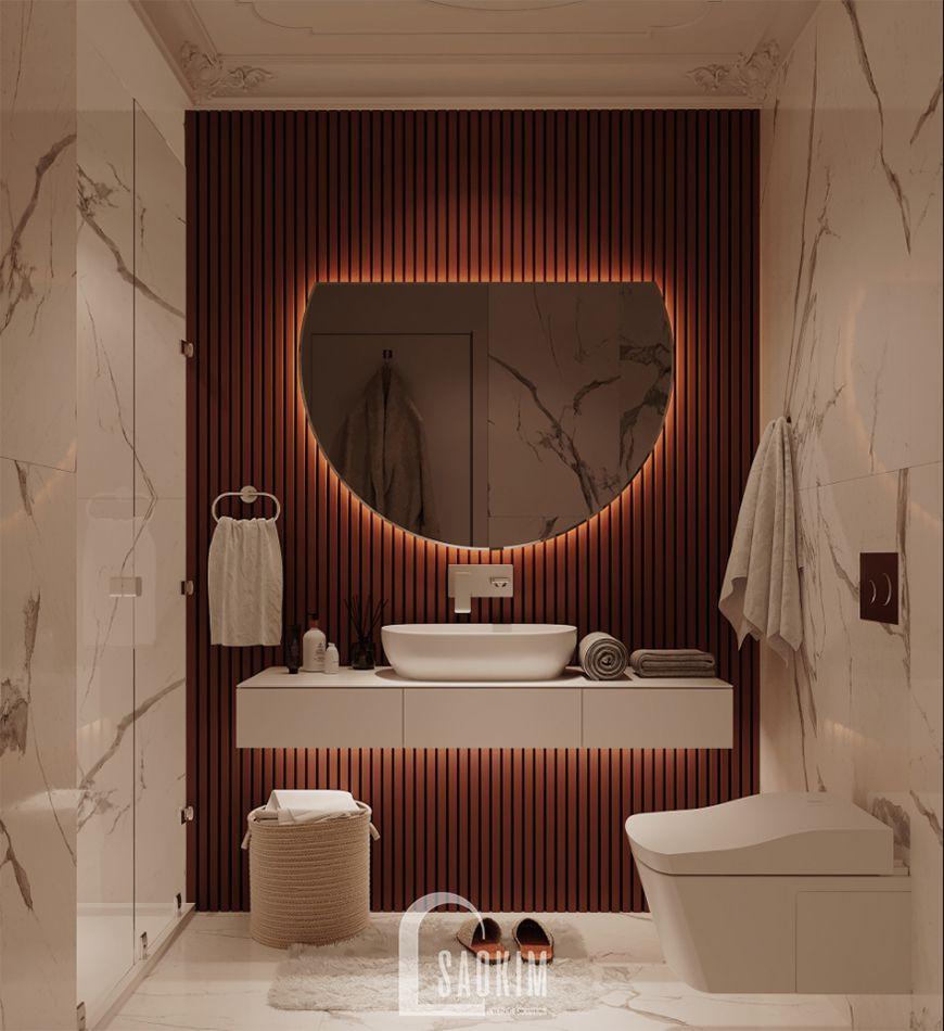 Thiết kế nội thất phòng tắm chung cư mini 40m2 Trường Chinh - Giải Phóng