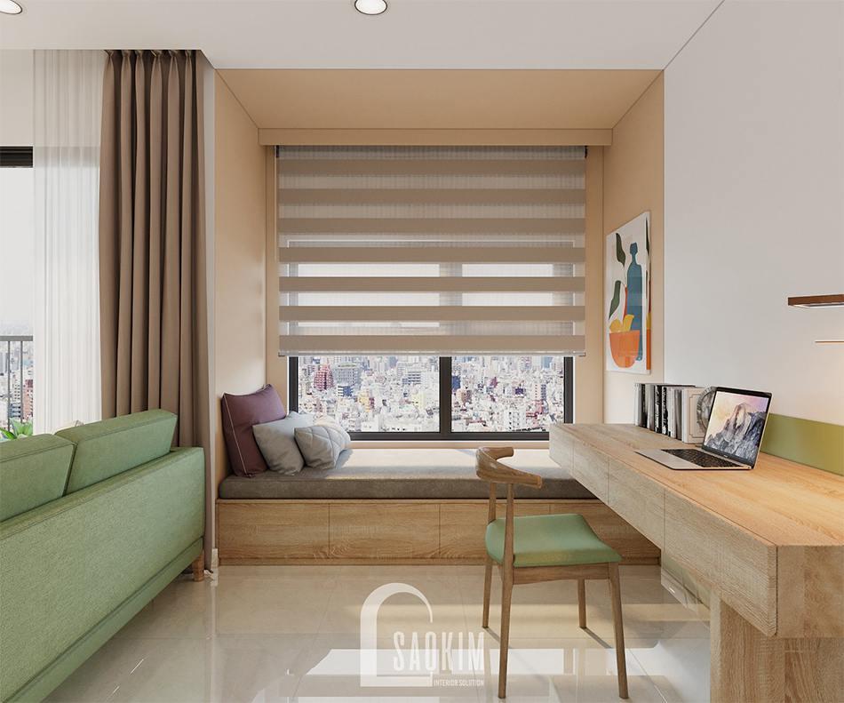 Mẫu Thiết Kế Căn Hộ 2 Phòng Ngủ + 1 Vinhomes Ocean Park 65m2