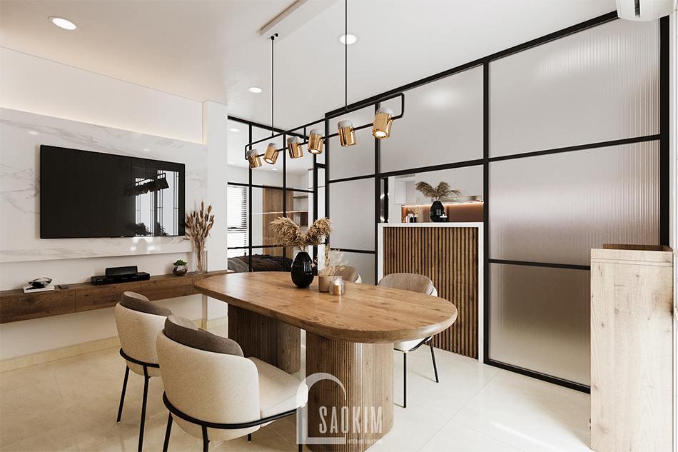 Thiết kế căn hộ studio Tây Hồ 45m2 hiện đại, sang trọng