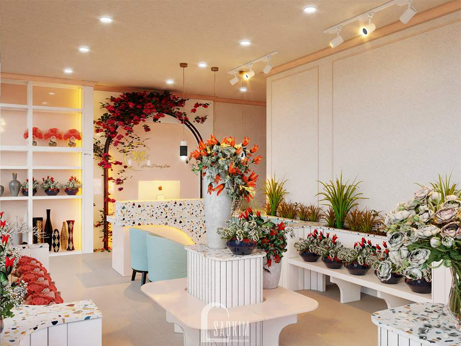 Thiết Kế Shop Hoa Hiện đại Hoa Phong Lan