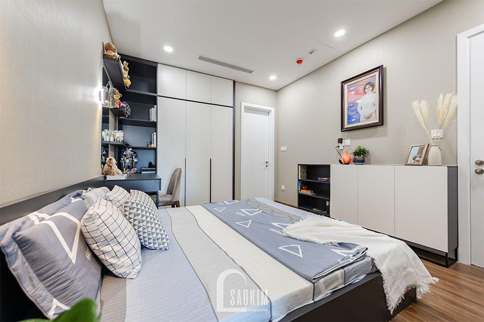 Thi công hoàn thiện chung cư 80m2 theo phong cách hiện đại Golden Park