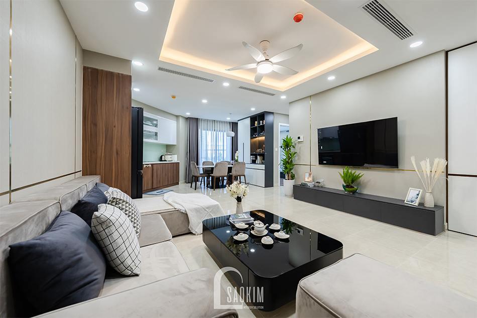 Thi công hoàn thiện chung cư 80m2 Golden Park