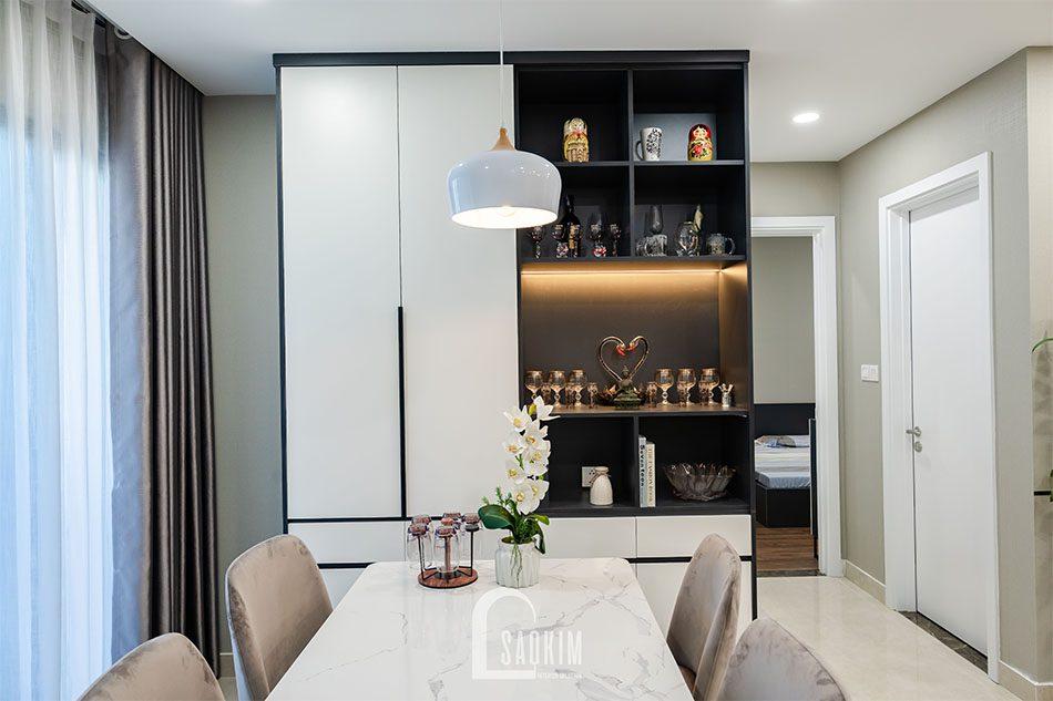Thi công nội thất chung cư 80m2 - không gian phòng ăn