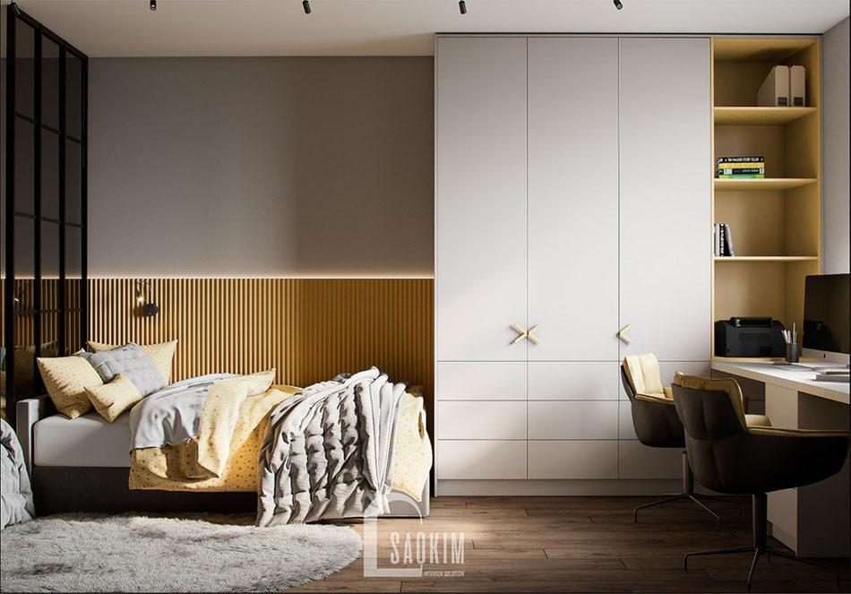 Thiết kế phòng ngủ chung cư cho bé căn hộ The Terra An Hưng