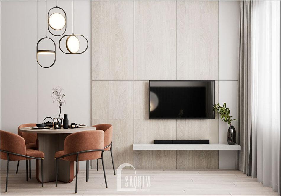 Thiết kế nội thất phòng khách chung cư đẹp The Terra An Hưng