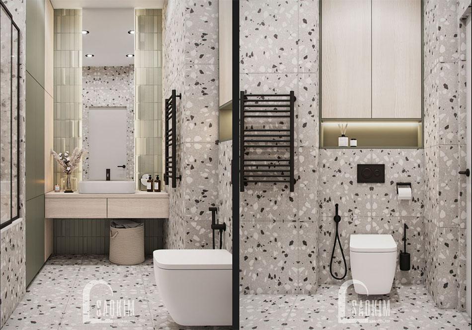 Thiết kế nội thất phòng tắm chung cư The Terra An Hưng