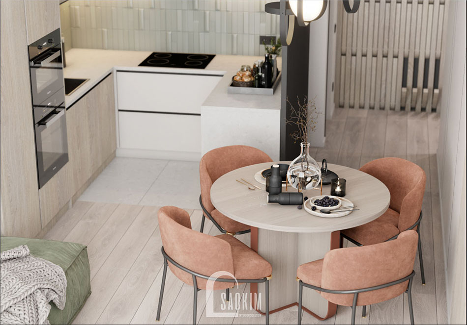 Thiết kế nội thất phòng ăn chung cư The Terra An Hưng