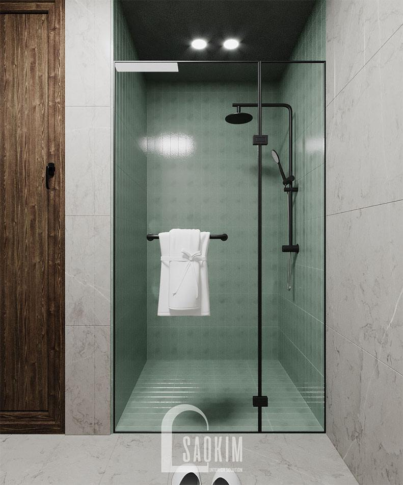 Thiết kế nội thất phòng tắm nhà mặt đất 58m2