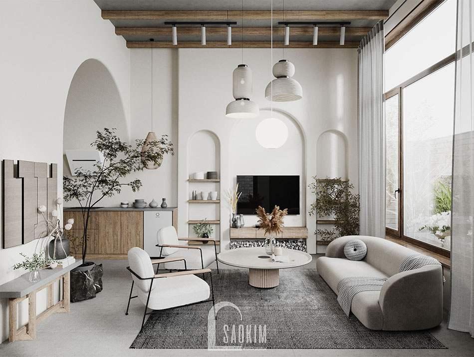 Thiết kế nhà ở Hà Nam theo phong cách Wabi Sabi làm nơi nghỉ ngơi cuối tuần