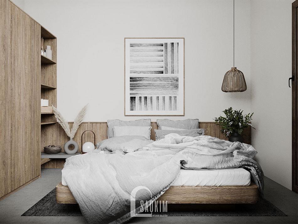 Thiết kế nhà phong cách Wabi Sabi mang đến cho phòng ngủ vẻ đẹp mộc mạc, bình yên và cuốn hút