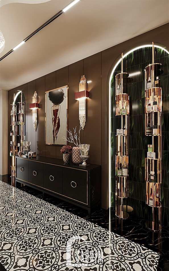 Hành lang thiết kế spa theo phong cách Tân cổ điển Luxury