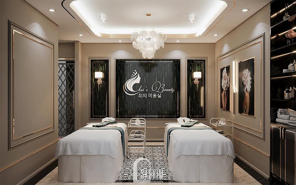 Thiết kế phòng massage trị liệu spa cao cấp Choi's Beauty theo phong cách Tân cổ điển Luxury