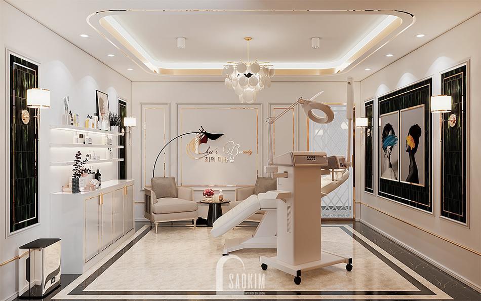 Thiết kế nội thất phòng tiểu phẫu spa cao cấp Choi's Beauty theo phong cách Tân cổ điển Luxury