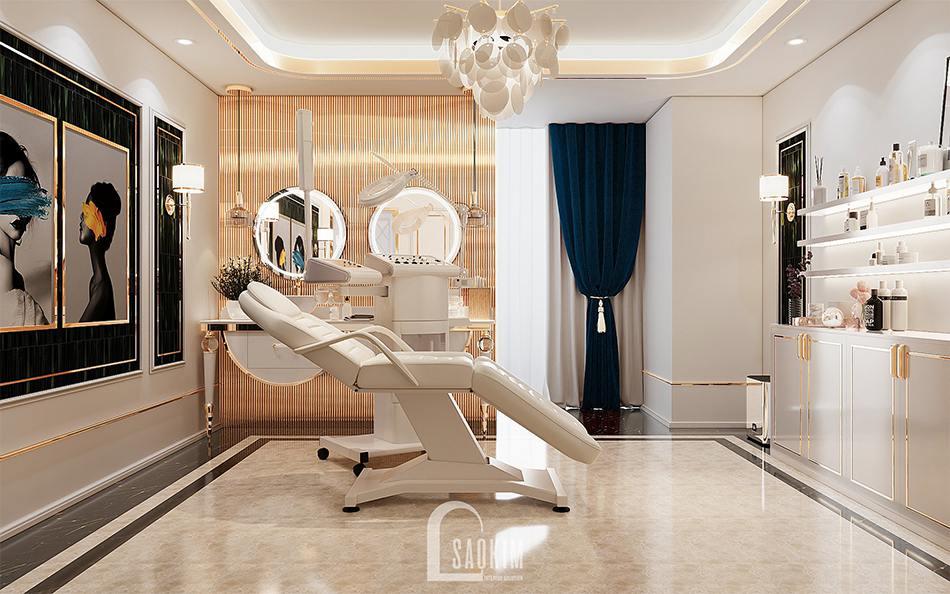 Thiết kế spa cao cấp Choi's Beauty theo phong cách Tân cổ điển Luxury