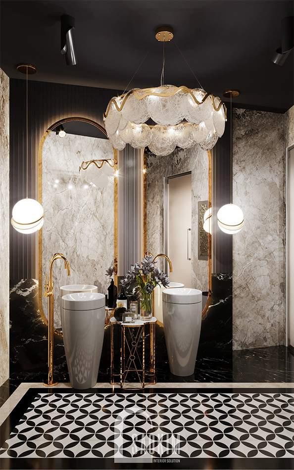 Thiết kế WC spa cao cấp Choi's Beauty theo phong cách Tân cổ điển Luxury