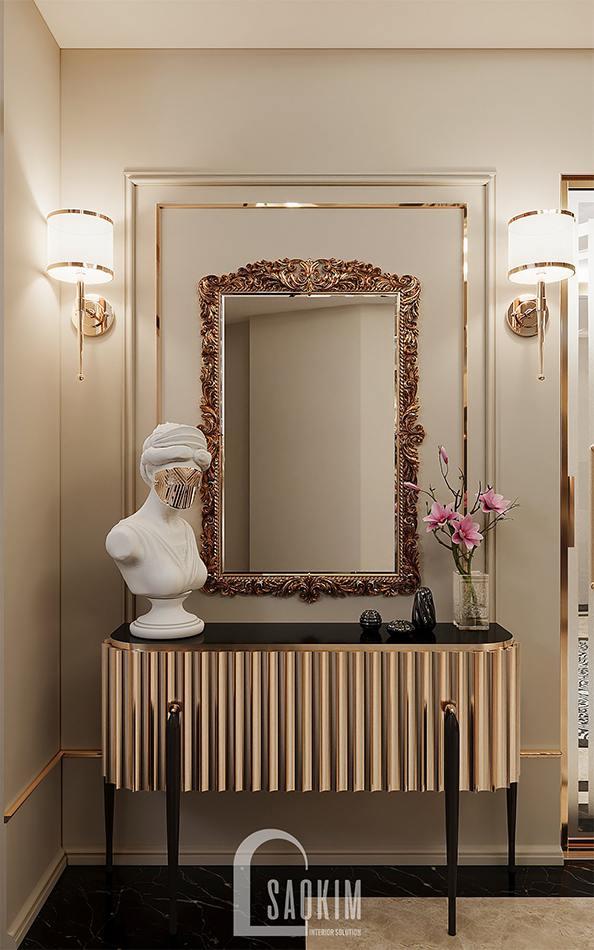 Thiết kế bàn, gương đậm chất tân cổ điển luxury