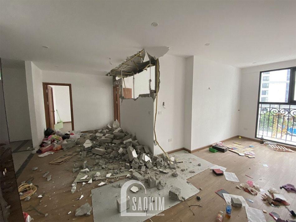 Ảnh chụp hiện trang căn hộ trong quá trình cải tạo